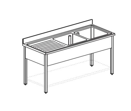 Ванна моечная APACH CHEF LINE L2S207-65LWSH