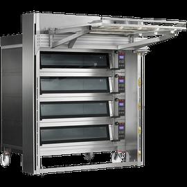 Многофункциональные электрические печи с увеличенной производительностью, доступные в разных моделях по 4 противня 60х40 см на каждом уровне